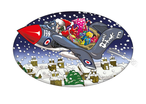 Sea Vixen sleigh ride christmas card