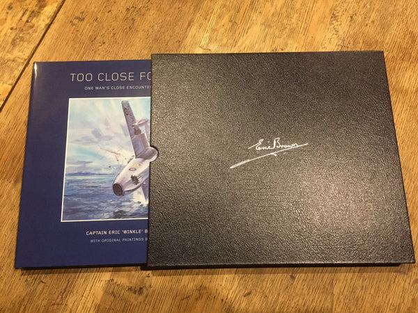Too close for Comfort - book and leather bound box sleeve