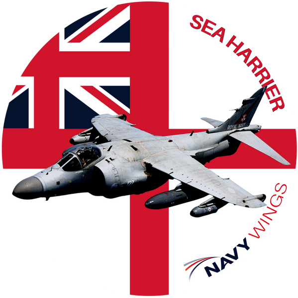 Navy Wings Aircraft icon embroidered badges - Sea Harrier, Sea Fury, Sea King (SAR) & Swordfish