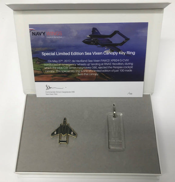 Sea Vixen Cockpit Canopy Perspex key ring - Limited edition of just 100