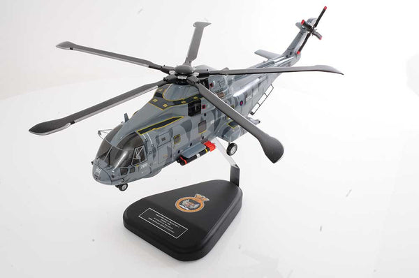 Handmade wooden model Merlin helicopter