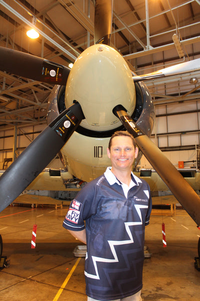 Chris Goetke, Navy Wings rugby shirts and Sea Fury