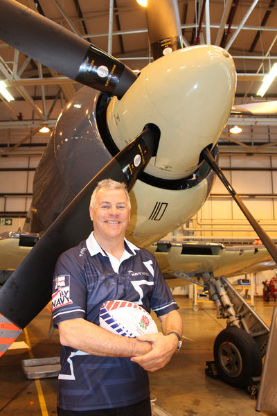 Jock Alexander, Navy Wings rugby shirts and Sea Fury