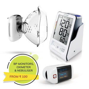BP Machines, Pulse Oximeters, Nebulizers and more health monitoring aids for senior citizens
