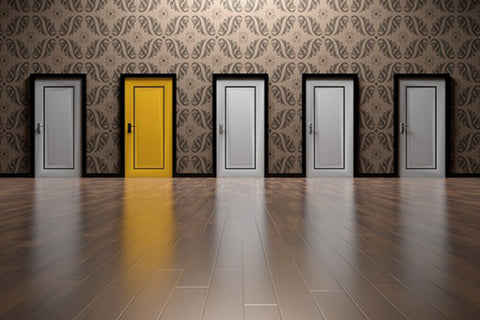 dr. know blog hey zindagi post surgical recovery back up plan for caregiving, one yellow door among four other white doors