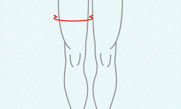 Wear the Thigh Support as per above directions. To remove, simply reverse by pulling from the lower part of the support.