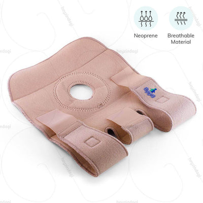 Open patella knee support manufacture with breathable neoprene materials | order online at heyzindagi.com