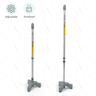 Adjustable walking stick (0907) by Vissco India. Anodized for an increased long term durability.  | EMI option available at heyzindagi.com