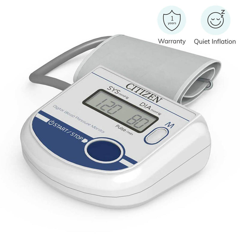 Compact Digital Blood Pressure Monitor (One Touch Operation / 90 Recordings)