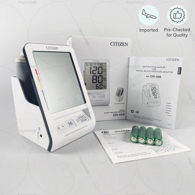 Best bp monitor (CH-456) with auto shut off operation. Imported and Pre-checked for quality by Citizen Japan | heyzindagi.com- a health & wellness site for senior citizens