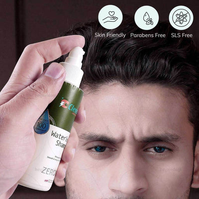 SLS and parabens free waterless hair shampoo by Clensta India. Suitable for all skin type | heyzindagi solutions for differently abled