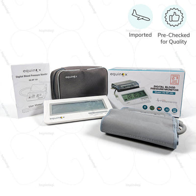 Electronic BP monitor for home & hospital (EQ-BP-101). Imported & Pre - Checked for Quality by Equinox India | buy online at heyzindagi.com