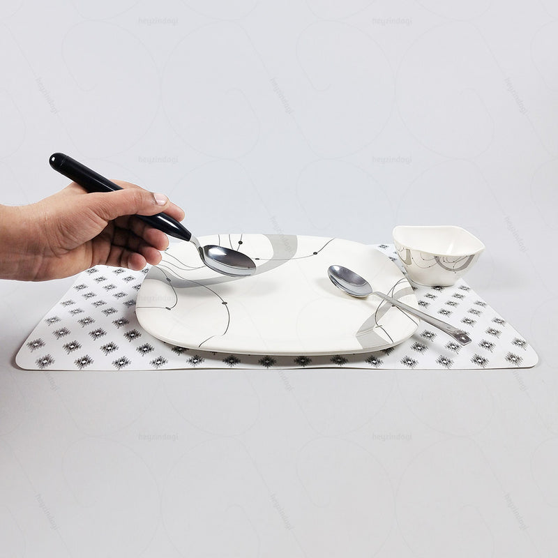 Light Table Spoon with Thick Handles (Stainless Steel + ABS)