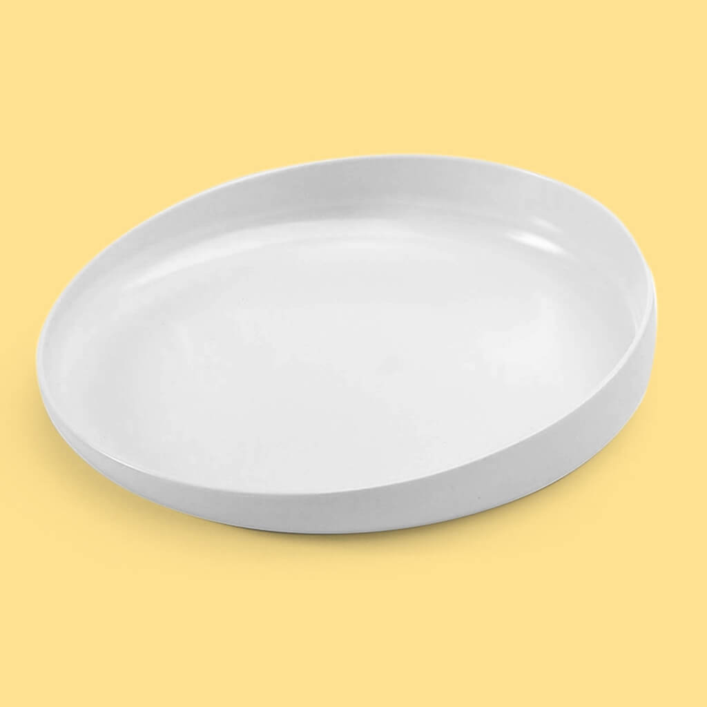 Tasty Plate with Raised Edge (Melamine + Rubber Grip)