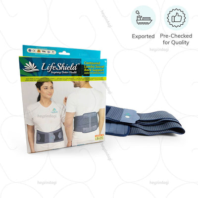 Contoured Lumbo Sacral Back Support Belt (Plus Size) by LifeShield | shop at amazon.in