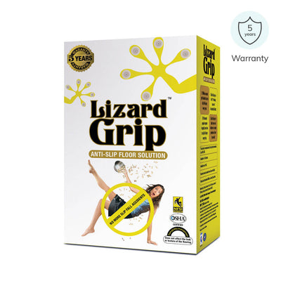 Anti slip solution for tiles by Lizard Grip to avail non slip surface. Comes with 5 years warranty | available at Heyzindagi.in