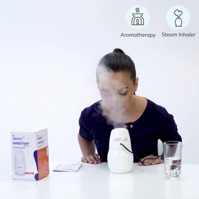 Steam Inhaler (VAP-01) by Medtech India. Used to diffuse essential oils for aromatherapy | shop at heyzindagi.in