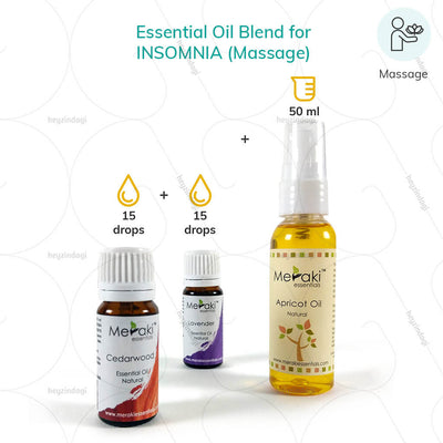 Lavender Essential Oil Blend for Insomnia (MERKEO10) by meraki essentials. Relief via massage therapy | order online at heyzindagi.com