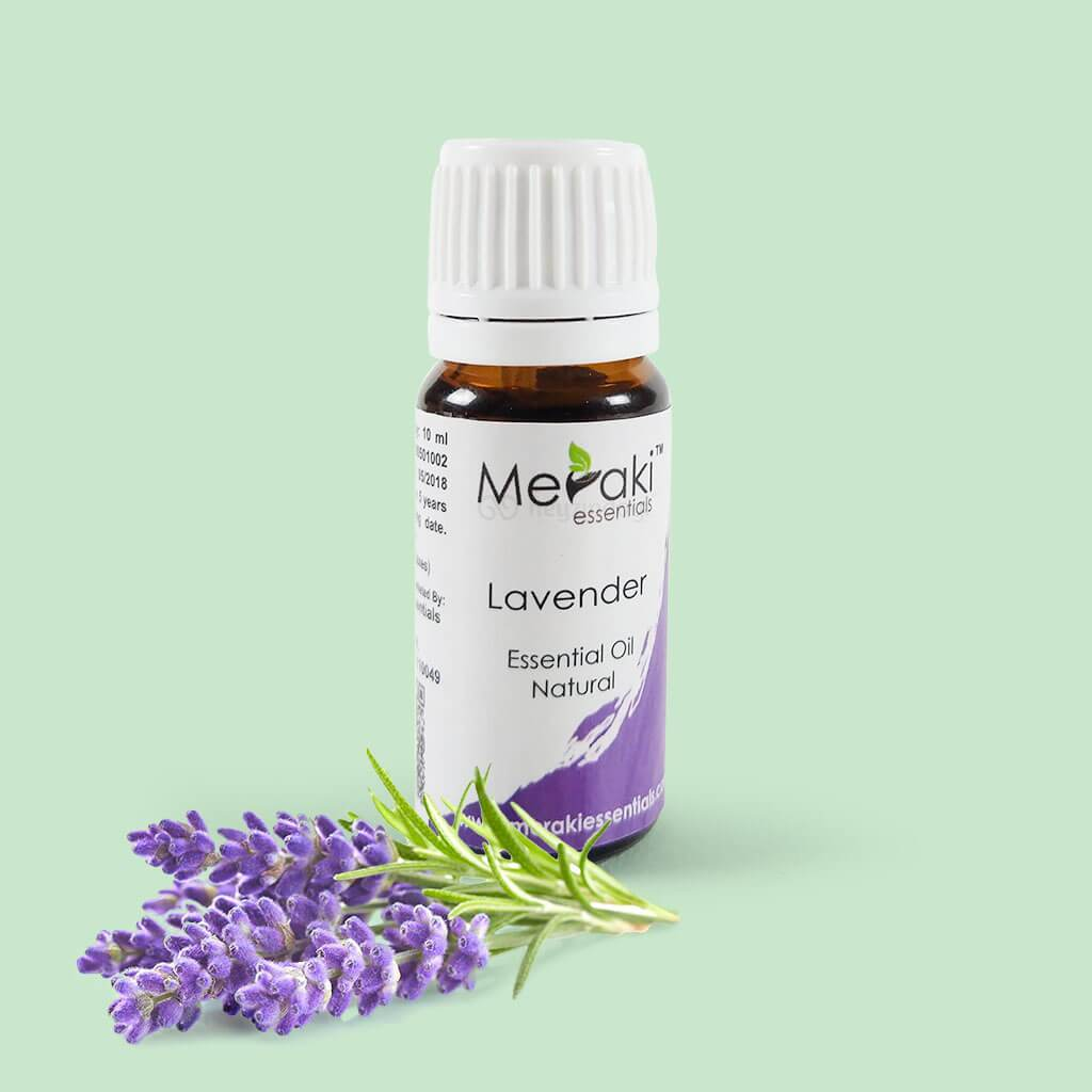 Lavender essential oil (MERKEO10) by meraki essentials | heyzindagi.com- shipping done across India