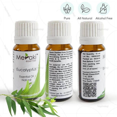 100% Pure, natural & alcohol free eucalyptus oil by Meraki essentials | heyzindagi solutions for differently abled