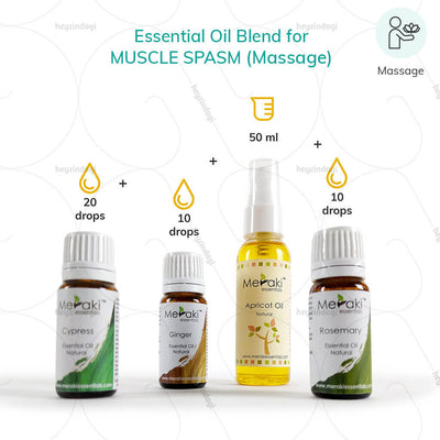 Ginger essential oil blends for muscle pain (MERKEO14) by meraki essentials | EMI option available at heyzindagi.com