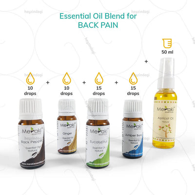 Peppermint oil for back pain (MERKEO05) by meraki essentials | EMI option available at heyzindagi.com