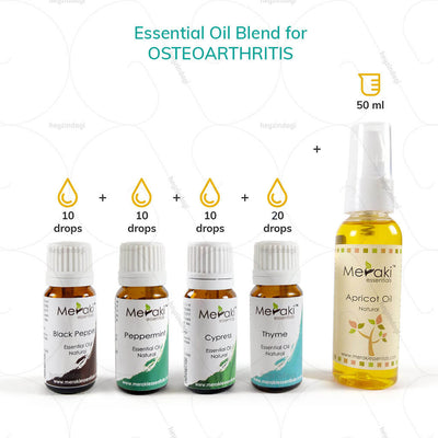 Peppermint Essential Oil Blend for Osteoarthritis (MERKEO05) by maraki essentials | www.heyzindagi.com