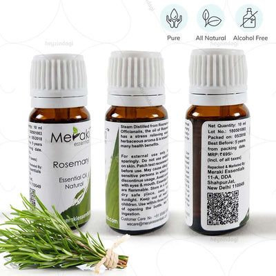 100% Pure & alcohol free Rosemary oil (MERKEO01) by meraki essentials | heyzindagi.com- a health & wellness site for differently abled