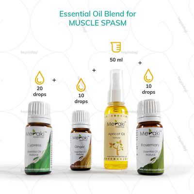 Rosemary essential oil blends for muscle spasms by meraki essentials | heyzindagi.com- shipping done all across India