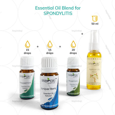 Rosemary essential oil blends for spondylitis by meraki essential | heyzindagi.com- EMI option available for payments