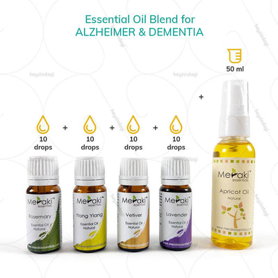 Rosemary essential oil blends for Alzheimer's by meraki essentials | buy online at heyzindagi.com