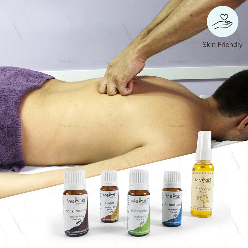 Aromatherapy Essential Oil Combo for Back pain (MERESBL08) by Meraki Essentials | Order online at - www.heyzindagi.com