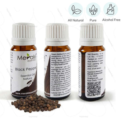 Aromatherapy Essential Oil Combo for Back pain (MERESBL08) by Meraki Essentials