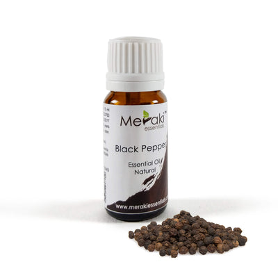 Natural Black Pepper Essential Oil by Meraki - Visit at hey zindagi