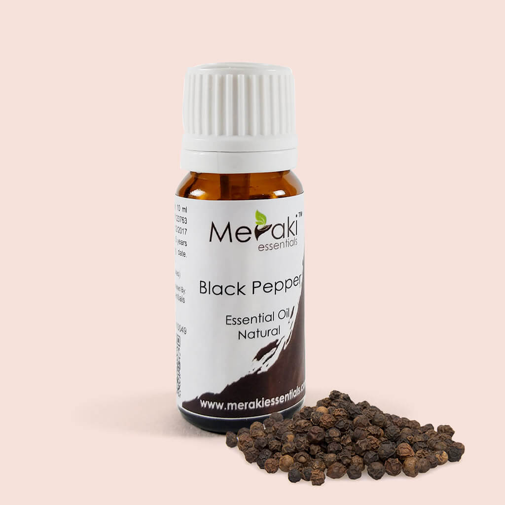 Pure Black Pepper Essential Oil by Meraki - Shop at heyzindagi.com