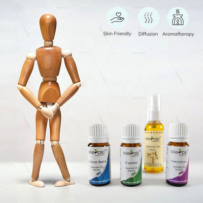 Skin-friendly Essential Oil Combo for aromatherapy via diffusion for urinary incontinence by Meraki |  Hey Zindagi Solutions