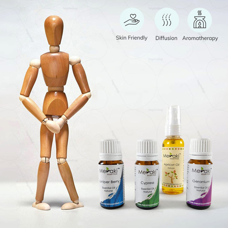 Aromatherapy Essential oil combo for Urinary Incontinence by Meraki | Order online at Heyzindagi.in