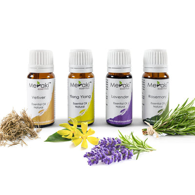 Essential Oil Combo for Alzheimer's & Dementia (MERESBL01) by meraki essentials | shop online at heyzindagi.com
