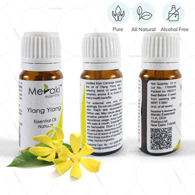 100% natural & alcohol-free Ylang ylang essential oil (MERESBL01) by meraki essentials | order online at heyzindagi.com