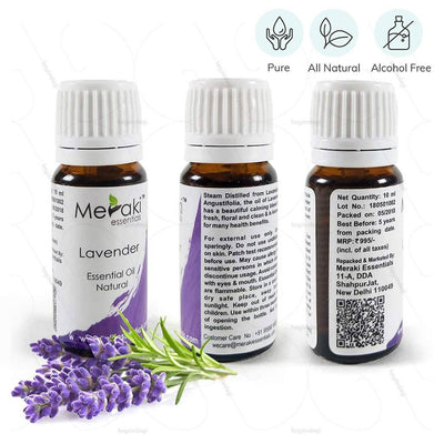 Pure & alcohol-free Lavender essential oil (MERESBL01) by meraki essentials | explore heyzindagi solutions