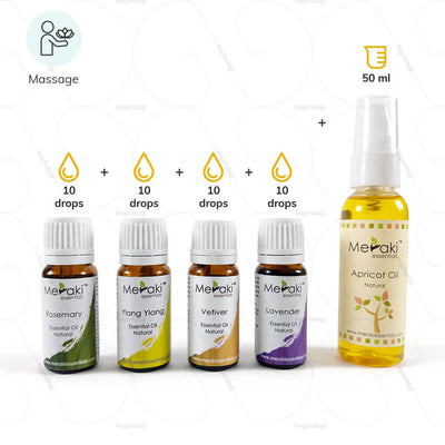Essential oils for massage (MERESBL01) by meraki essentials | heyzindagi.com- an online shop for senior citizens