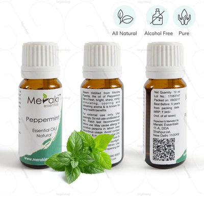 100 % natural peppermint essential oil. Pure & free from alcohol | www.heyzindagi.com