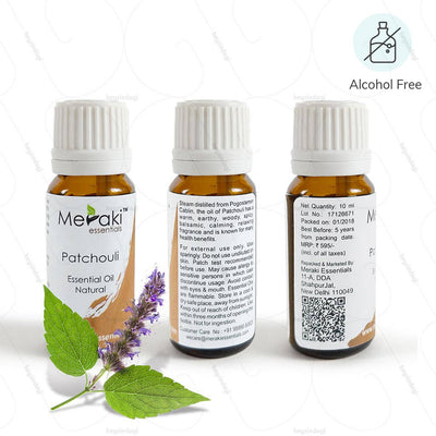 Alcohol Free Patchouli Essential Oil for spotless skin - men by Meraki Essential | Available at HeyZindagi.com
