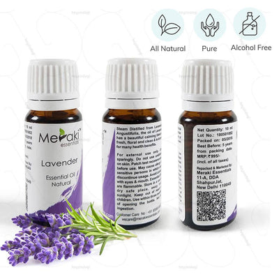100 % Natural, Pure and Alcohol free Lavender Oil to stimulate relaxation during sleep | Order from heyzindagi.com