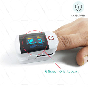 Nidek Pulse Oximeter (6500)- made of Shockproof materials for safe use manufactured by Nidek India | www.heyzindagi.in