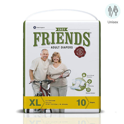 Friends adult diapers by Nobel Hygiene India. Suitable for both male & female | buy online from heyzindagi.in