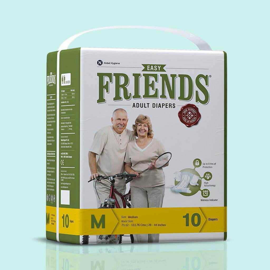 Friends Easy Adult Diapers (10 pcs/ pack): 3, 6 & 12 Saver Packs