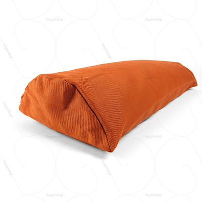 Buckwheat Hull Bolster Cushion Orange (NUBC01) by Nutribuck India