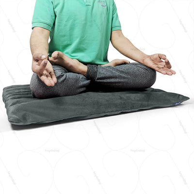 Buckwheat Hull Yoga Cushion Grey (NUYM01) by Nutribuck India