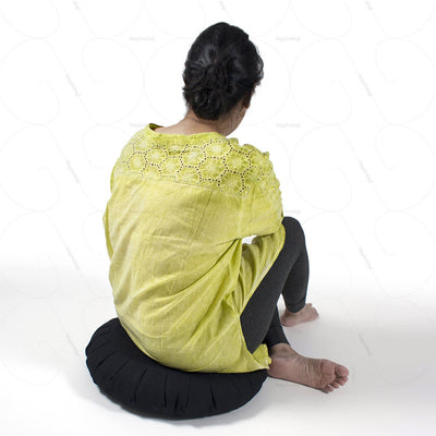 Buckwheat Hull Zafu Meditation Cushion (NUZP01) by Nutribuck India
